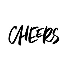 Cheers christmas lettering vector
