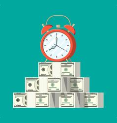 Clock dollar banknotes vector
