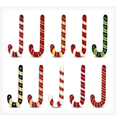Collection of various candy canes vector image