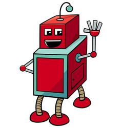 Cubical robot cartoon character vector