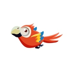Cute Red Macaw Parrot vector image