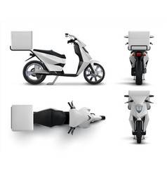 delivery scooter realistic motorcycle with blank vector image