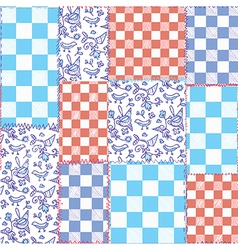 Dutch seamless plaid pattern patchwork vector