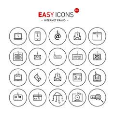 easy icons 51b internet fraud vector image