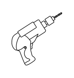 Electric drill carpentry tool vector