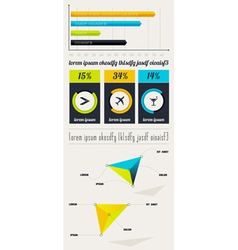 Elements of Infographics with buttons and menus vector image