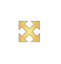Enlarge computer symbol vector image