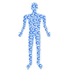 Euro human figure vector