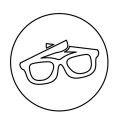 Eye glass isolated icon vector