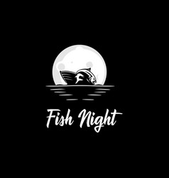 fish night logo vector image