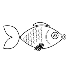 fish sea wildlife food icon isolated vector image