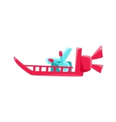 Flat Bottom Speed Toy Boat vector