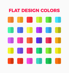 flat design colors set vector image