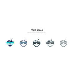 Fruit salad icon in different style two colored vector