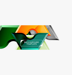 geometric banner made glossy geometric shapes vector image