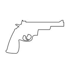 gun revolver icon vector image vector image