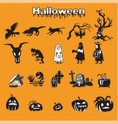 Halloween set 2 vector