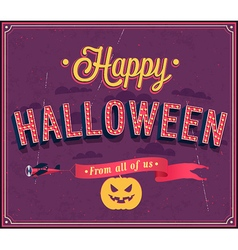 Happy Halloween typographic design vector image