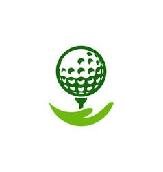 Help golf logo icon design vector
