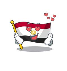 In love flag egypt folded mascot cupboard vector
