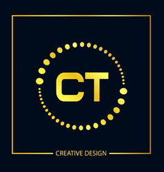 Initial letter ct logo template design vector