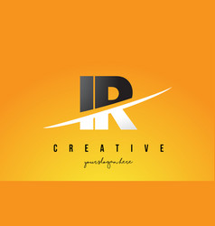 Ir i r letter modern logo design with yellow vector