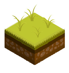Isometric soil layers tile vector