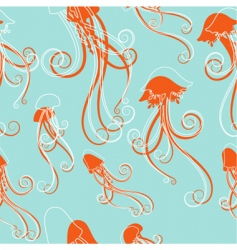 Jellyfish pattern vector