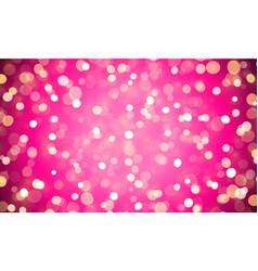 light abstract bokeh shine pink glitter effect vector image