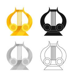 Lira and apollo symbol set vector