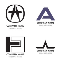 Logo bundle coorporate awesome modern concept vector