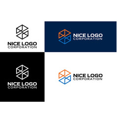 Logo engineering and construction vector