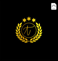 Luxury t initial logo or symbol business company vector