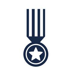 Memorial day medal star ribbon honor american vector
