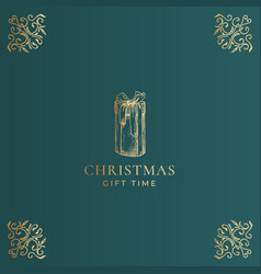 merry christmas abstract classy label logo vector image