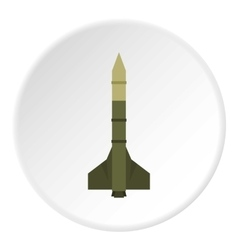 Missile rocket icon flat style vector