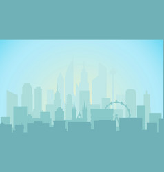modern cityscape in the morning office builngs vector image