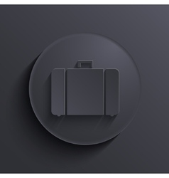 modern dark circle icon Eps10 vector image