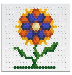 Mosaic Flower vector