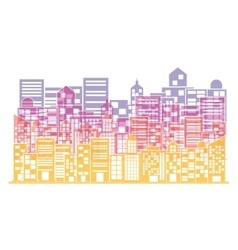 Multicolor building and city scene vector