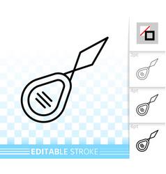 needle threader simple black line icon vector image