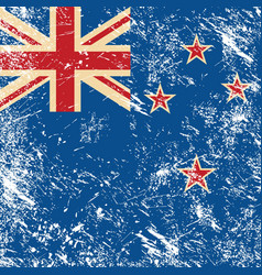 New Zealand retro flag vector image