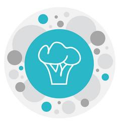 Of dessert symbol on broccoli vector