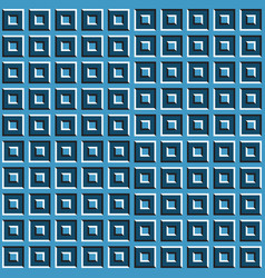 optical blue squares seamless pattern vector image