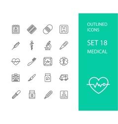Outline icons thin flat design modern line stroke vector image