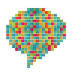 Pixelated diversity speech bubble vector