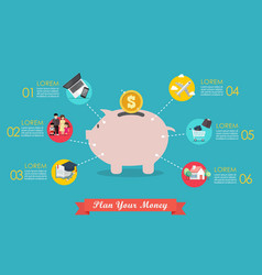 Plan your money infographic vector