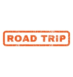 Road Trip Rubber Stamp vector