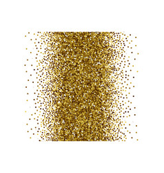 Scattered golden confetti white background vector