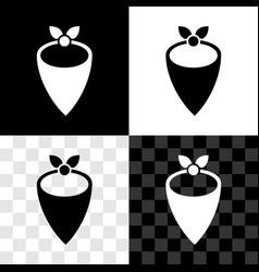 Set cowboy bandana icon isolated on black and vector